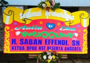 daftar karangan bunga papan di Kromengan Malang